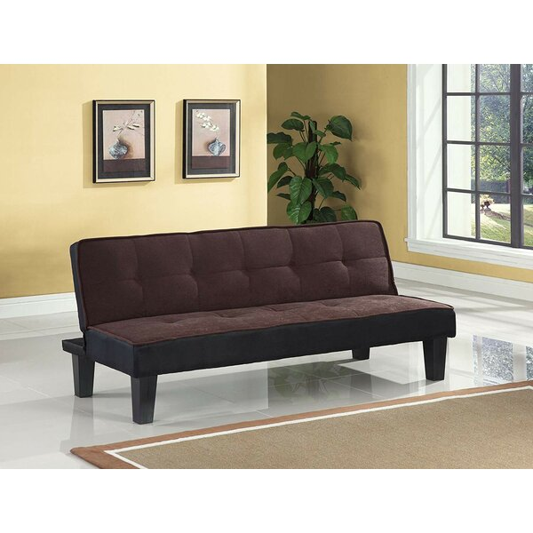 Top Reviews Emmanuelle Sturdy Flannel Fabric Adjustable Convertible Sofa by Latitude Run by Latitude Run