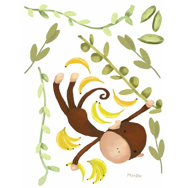 Jungle Monkeys Small Peel and Place Wall Decal by Oopsy Daisy