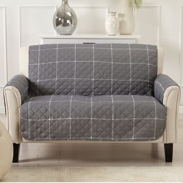 Box Cushion Loveseat Slipcover by Charlton Home