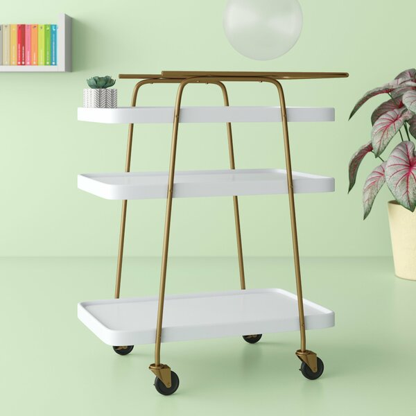 Corinne 3 Tier Bar Cart by Hashtag Home Hashtag Home