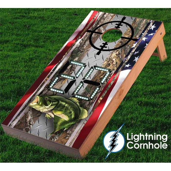 2 Cornhole boards and 8 duck cloth cornhole bags by Lightning Cornhole