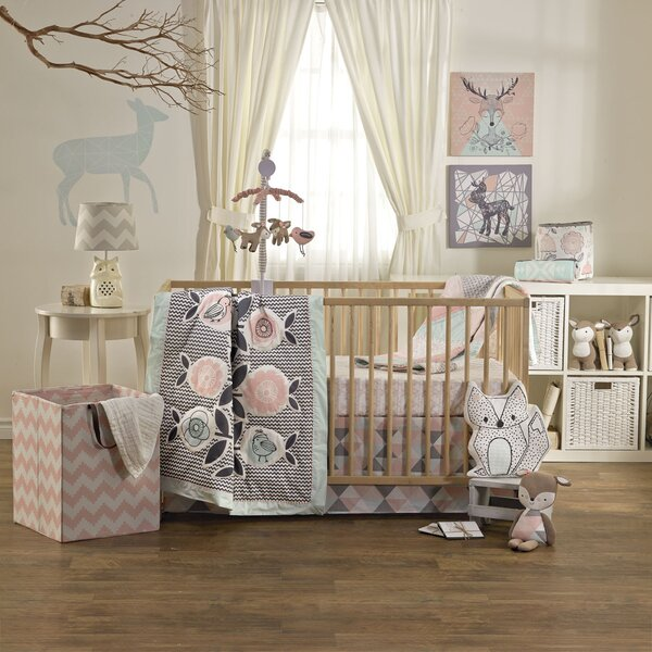 Sparrow 4 Piece Crib Bedding Set by Lolli Living