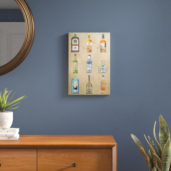 Liquor Bottles Graphic Art on Wrapped Canvas by Langley Street