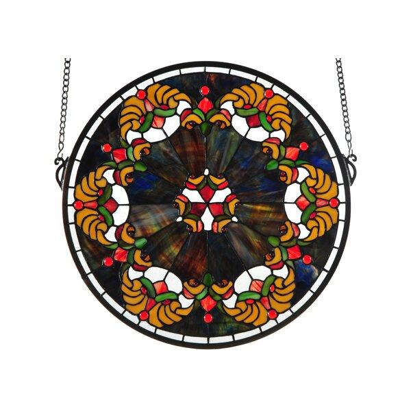 Middleton Medallion Stained Glass Window by Meyda Tiffany