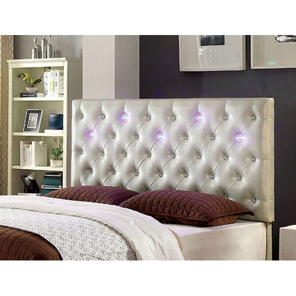 Royal Upholstered Panel Headboard with Led Lighting by Everly Quinn