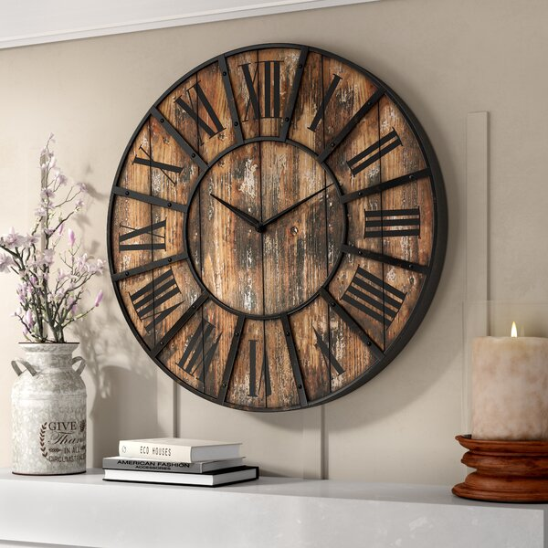 Oversized Hampson 36 Wall Clock by Gracie Oaks