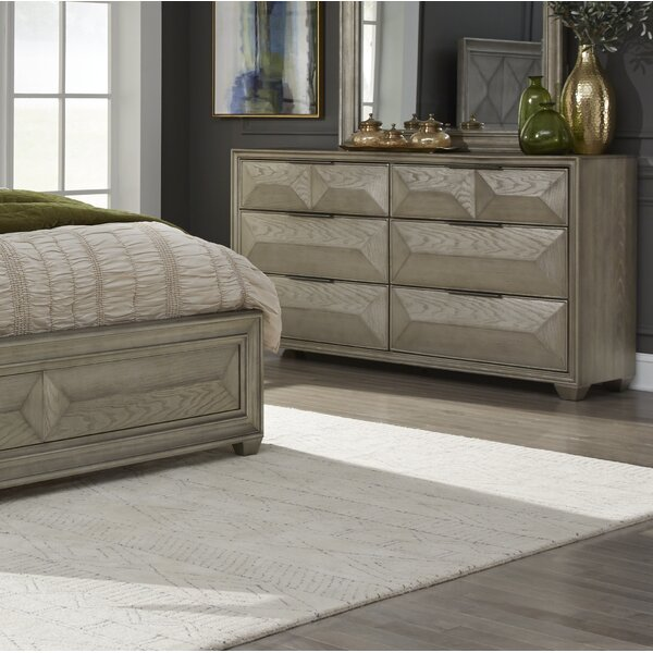 Daley 6 Drawer Standard Dresser by Mercer41