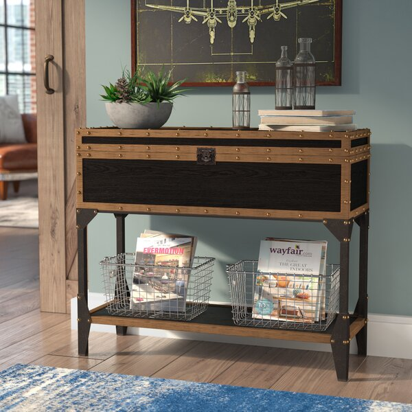 Review Mccrory Travel Trunk Console Table