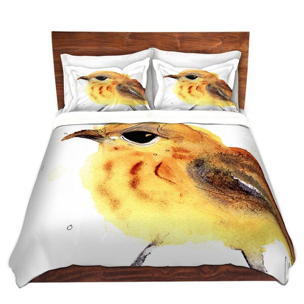 Yellow Warbler Duvet Cover Set