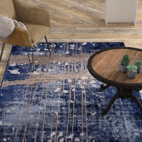 Pierce Blue/Gray Area Rug by Williston Forge