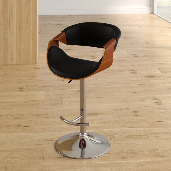 Alvin Adjustable Height Swivel Bar Stool by Corrigan Studio