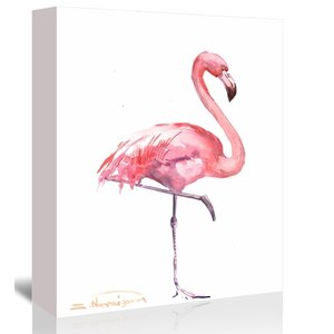 Flamingos 2 by Suren Nersisyan Painting Print on Gallery Wrapped Canvas by Americanflat