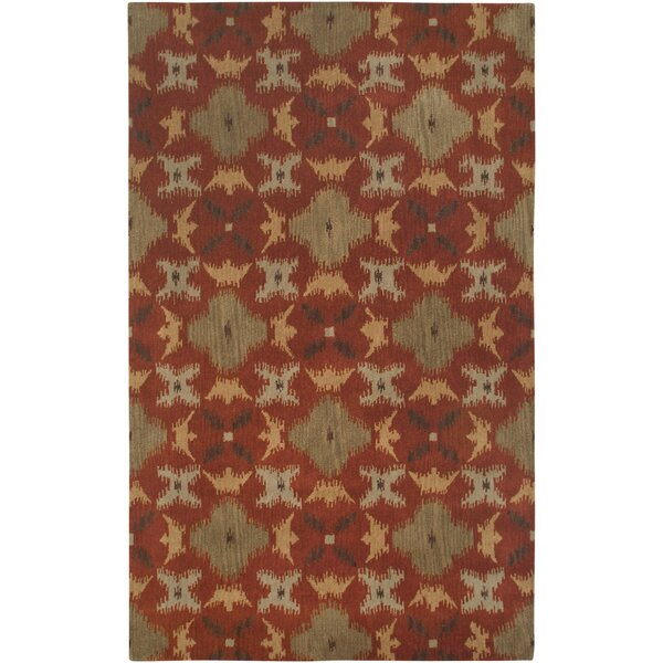 Hand-Tufted Rust Area Rug by The Conestoga Trading Co.