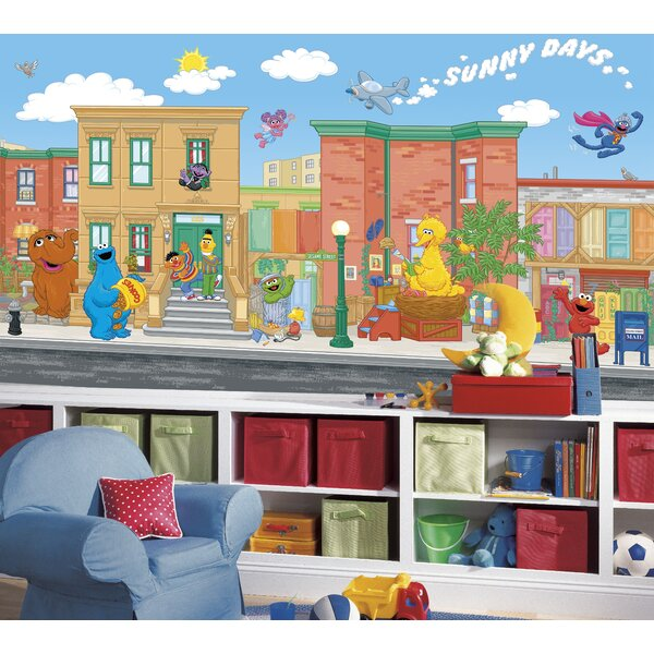 Sesame Street 10.5 X 72 Wall Mural By Room Mates.
