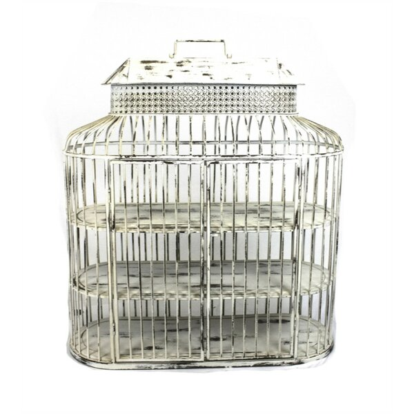 Old Fangled Metal Bird Cage by Benzara