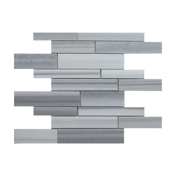 Equator Strip Bar Random Sized Marble Mosaic Tile in Gray by Seven Seas