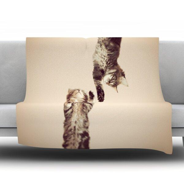 Upside Down Fleece Throw Blanket by KESS InHouse