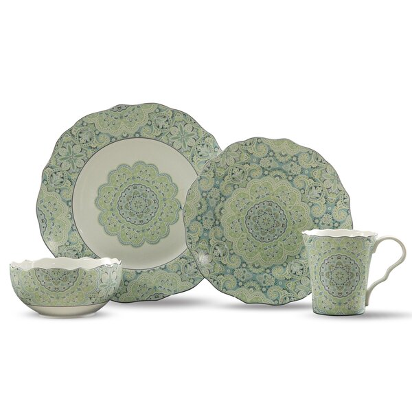 Lyria 16 Piece Dinnerware Set, Service for 4 by 222 Fifth