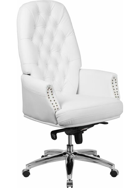 Hickox High-Back Tufted Executive Chair by Darby Home Co
