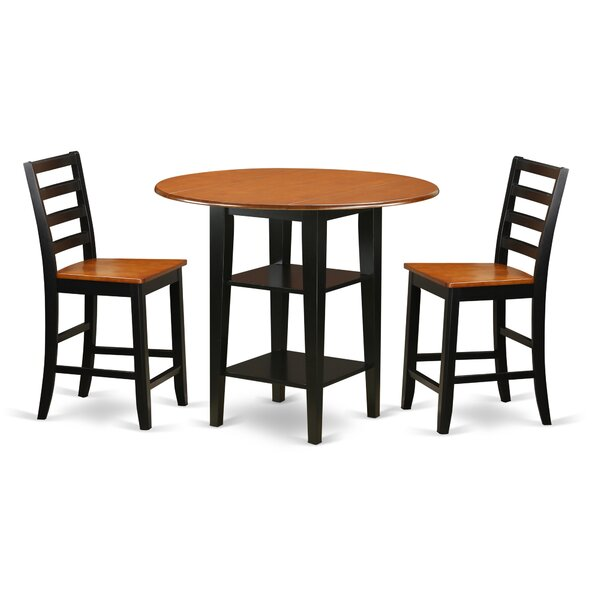 Tyshawn Drop Leaf Dining Set By Charlton Home