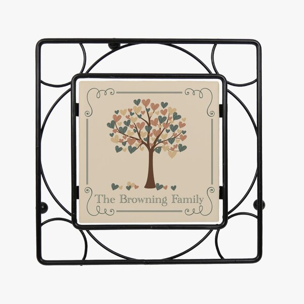 Custom Tree of Hearts Iron Trivet by Monogramonline Inc.