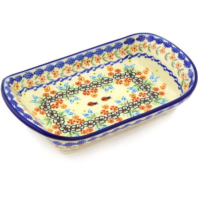 Polish Pottery 11 Rectangle Platter by Polmedia