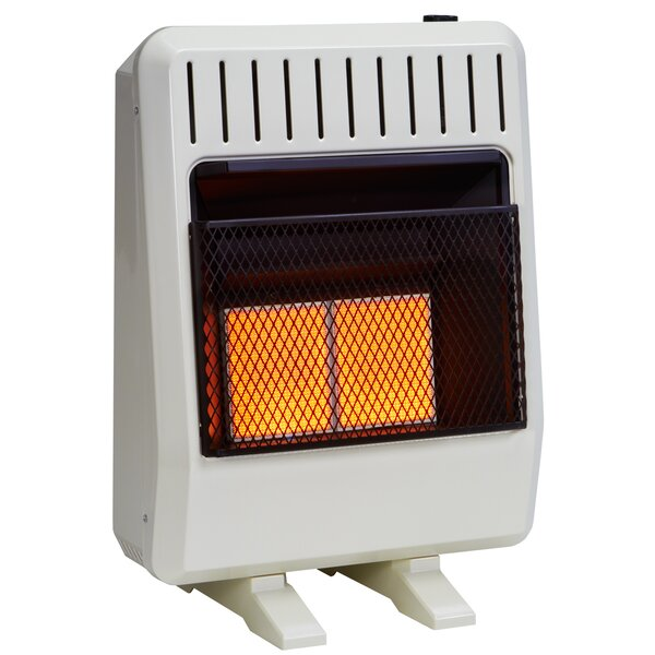 20,000 BTU Natural Gas/Propane Infrared Wall Insert Heater with Automatic Thermostat by Avenger