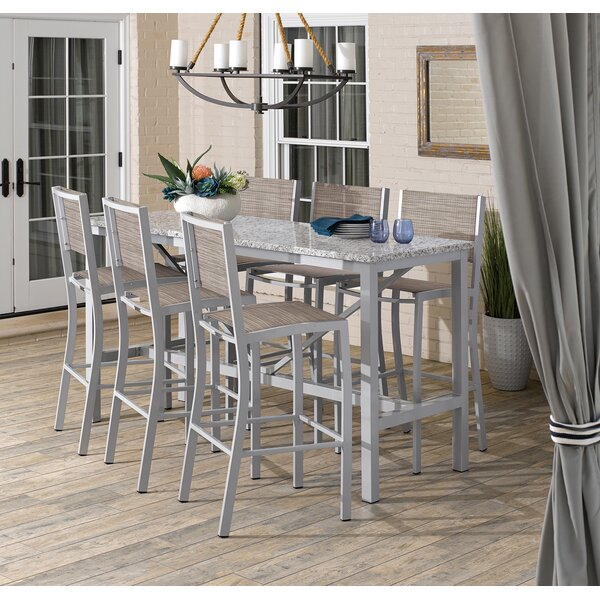 Caspian 7 Piece Bar Height Dining Set By Sol 72 Outdoor