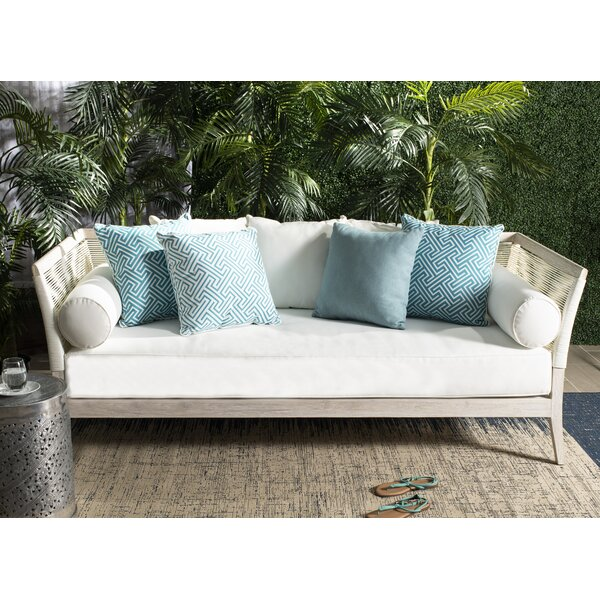 Farr Teak Patio Daybed with Cushion by Rosecliff Heights