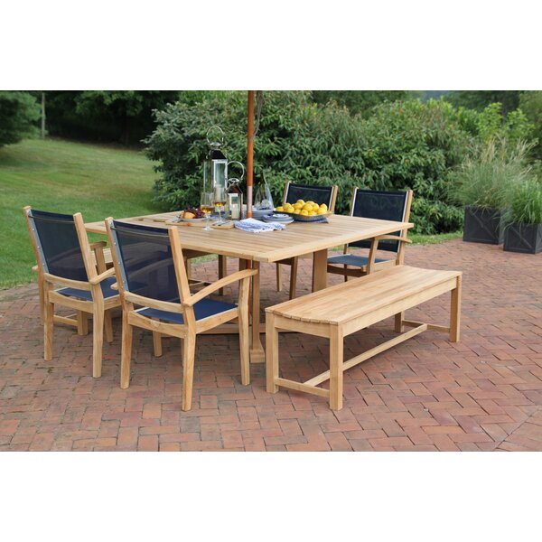 Earls 7 Piece Teak Dining Set by Rosecliff Heights