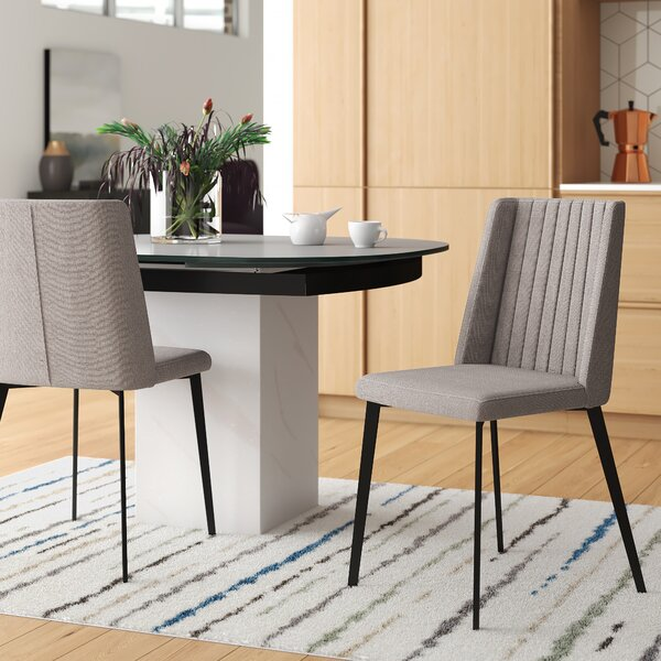 Maynor Contemporary Upholstered Dining Chair (Set of 2) by Mercury Row