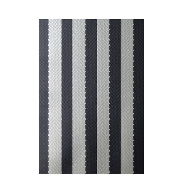 Stripe White Indoor/Outdoor Area Rug by e by design