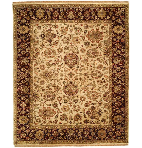 Bajaj Hand-Woven Brown/Beige Area Rug by Meridian Rugmakers
