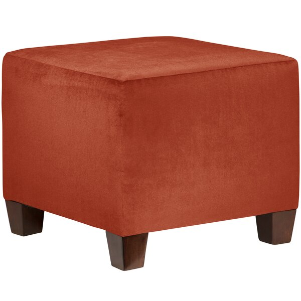 Clementina Square Ottoman by Charlton Home