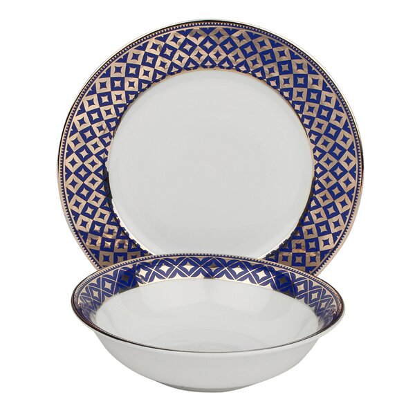 Empire Fine China 24 Piece Completer Set by Shinepukur Ceramics USA, Inc.