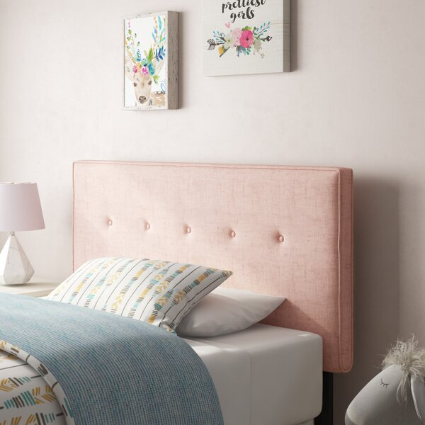 Paden Five Button Upholstered Panel Headboard by Brayden Studio