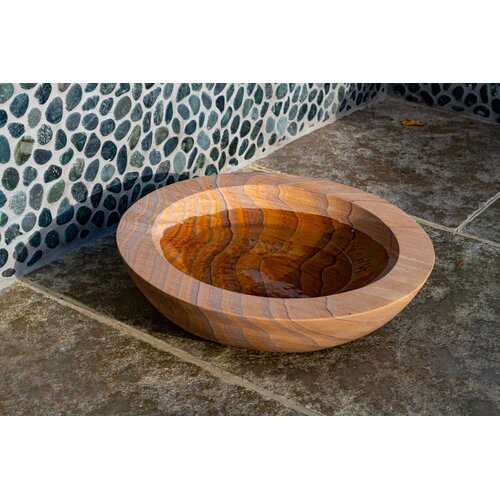 Akeem Rainbow Sandstone Birdbath Dakota Fields Colour: Brown