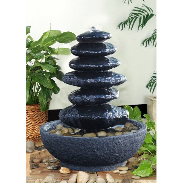 Resin Stacked Rock Fountain by Hi-Line Gift Ltd.