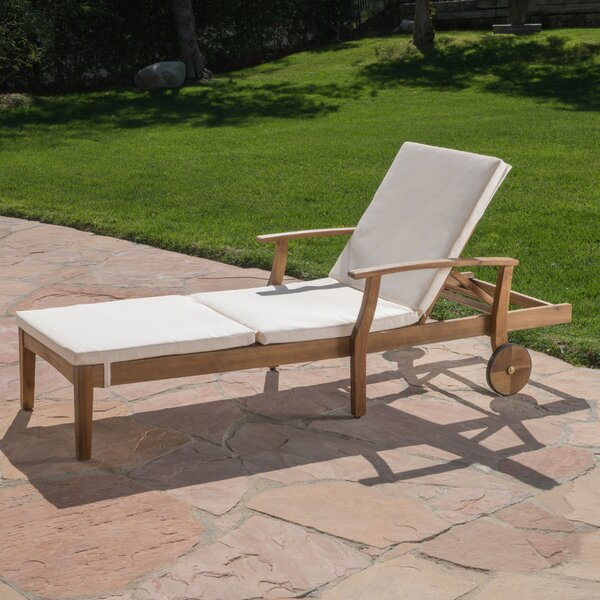 Antonia Reclining Chaise Lounge with Cushion by Mistana
