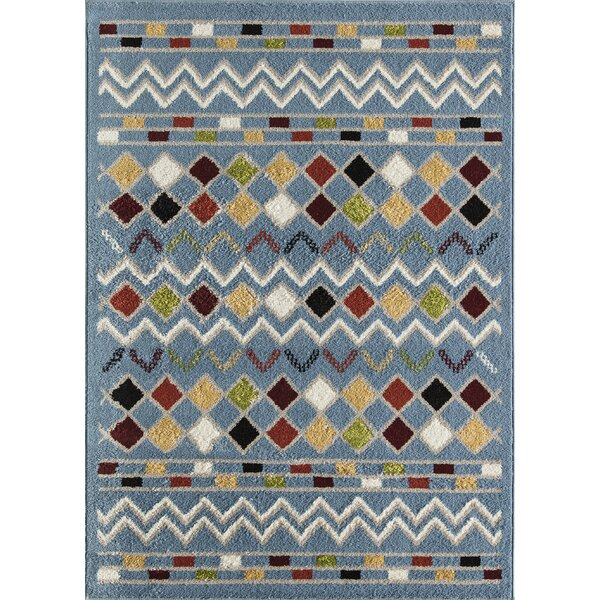 Owens Tribal Blue Area Rug by Loon Peak