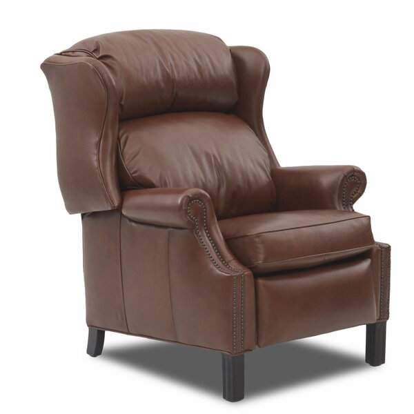 Basting High Leg Leather Manual Recliner by Canora Grey