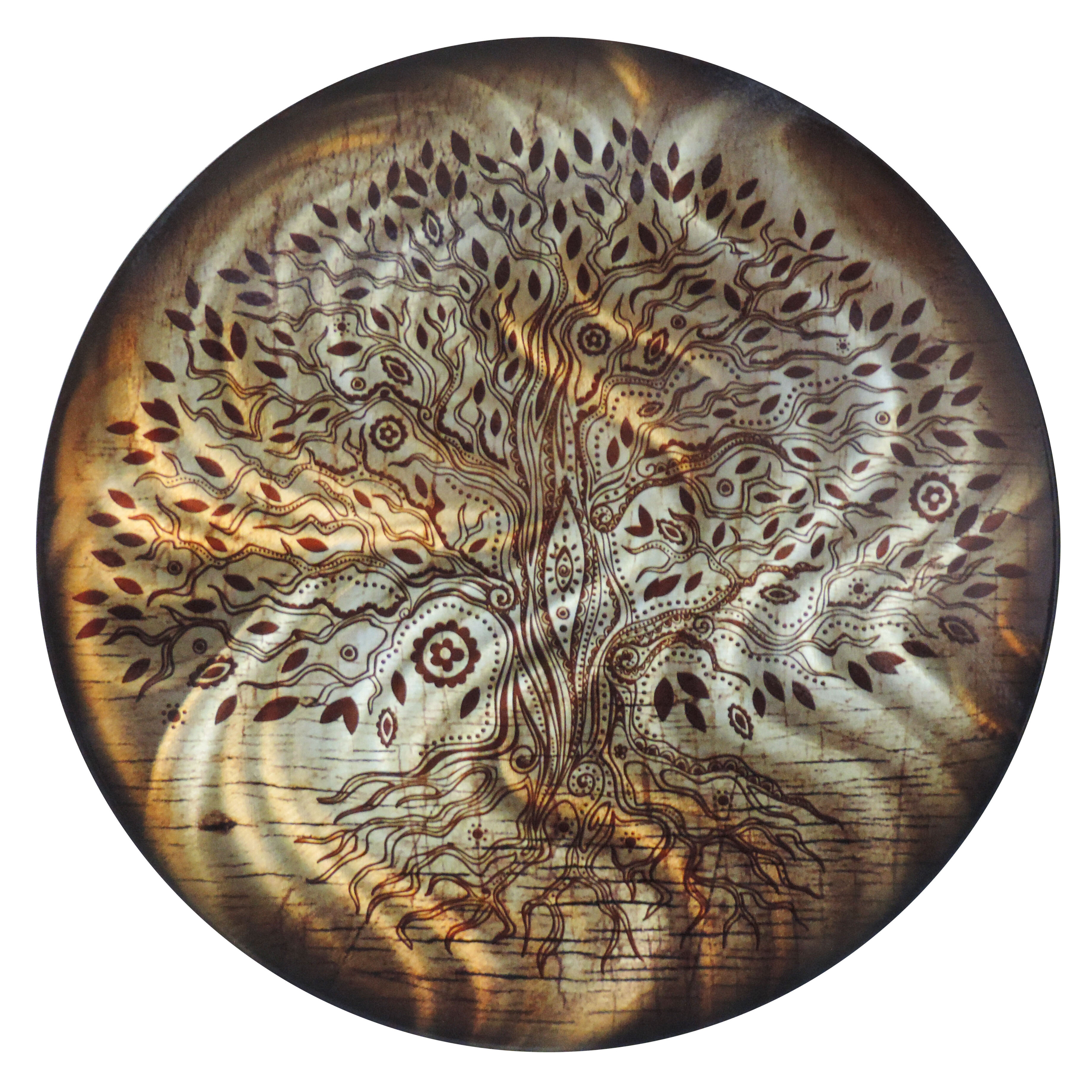 Round Tree Of Life Metal Wall Decor