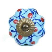 Floral Design Cabinet Ceramic Novelty Knob by MarktSq