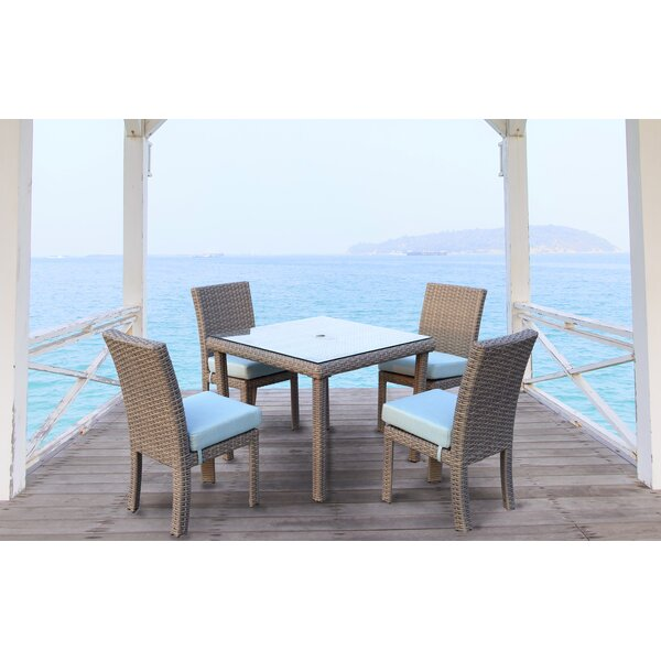 Losey 5 Piece Dining Set with Cushion by Rosecliff Heights