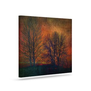 'Silhouettes' by Sylvia Cook Graphic Art on Wrapped Canvas by KESS InHouse