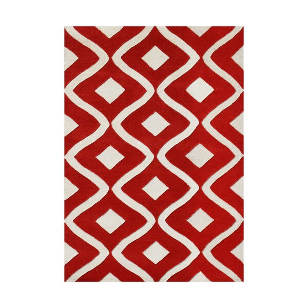Herjulfsson Hand-Tufted Tomato Area Rug by The Conestoga Trading Co.