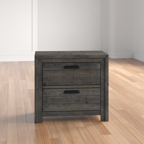 Saxmundham 2 Drawer Nightstand by Three Posts