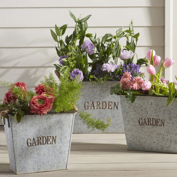 3-Piece Metal Planter Box Set by Cape Craftsmen