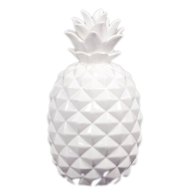 Ceramic Pineapple Figurine by Urban Trends