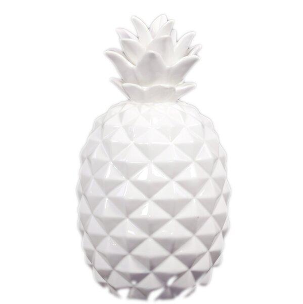 Ceramic Pineapple Figurine by Urban Trends